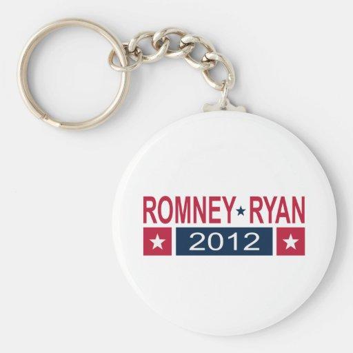 Romney Ryan 2012 Llavero Redondo Tipo Pin