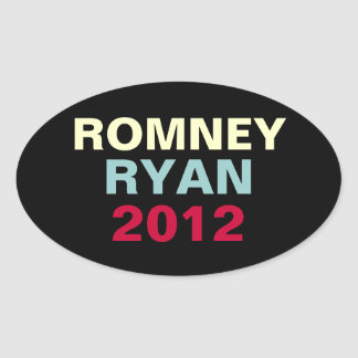 Romney Ryan 2012 Oval Campaign Sticker