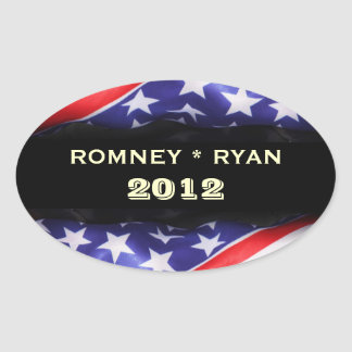 Romney / Ryan 2012 Oval Sticker