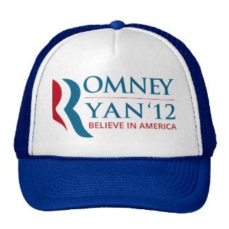 Romney/Ryan 2012 para el presidente de los E.E.U.U Gorra