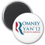 Romney/Ryan 2012 para el presidente de los E.E.U.U Imán De Nevera