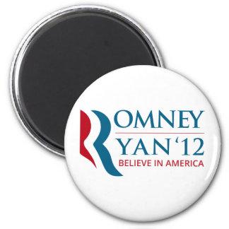 Romney/Ryan 2012 para el presidente de los E.E.U.U Imán Redondo 5 Cm