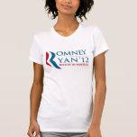 Romney/Ryan 2012 para el presidente de los E.E.U.U Camiseta