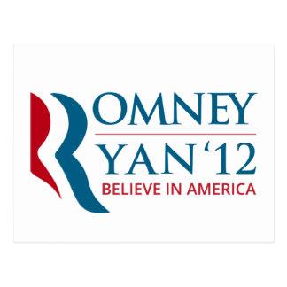 Romney/Ryan 2012 para el presidente de los Tarjeta Postal