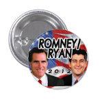 Romney Ryan 2012 Patriotic Photo Republican Button