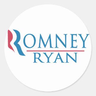 Romney Ryan 2012 Pegatina Redonda