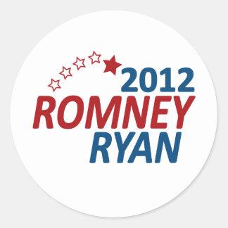 Romney Ryan 2012 Pegatinas Redondas