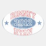 Romney Ryan 2012 Pegatina Ovalada