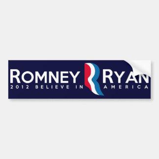 Romney Ryan 2012 Pegatina Para Auto