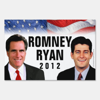 Romney/Ryan 2012 Photo Yard Sign