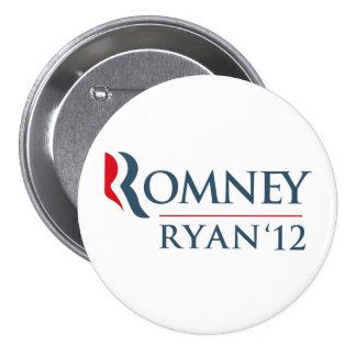 Romney Ryan 2012 Pin Redondo 7 Cm