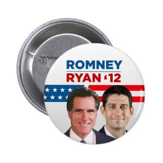 Romney Ryan 2012 Pin Redondo De 2 Pulgadas