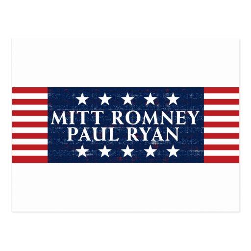 Romney Ryan 2012 Post Card