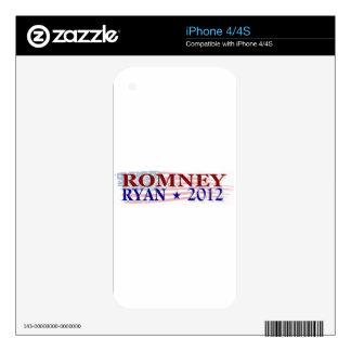 ROMNEY RYAN 2012 president Skins For The iPhone 4S