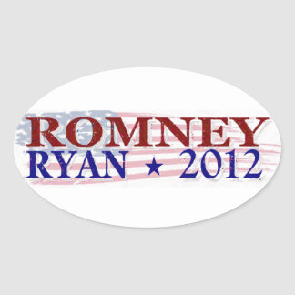 ROMNEY RYAN 2012 president Oval Sticker