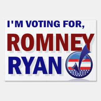 Romney Ryan 2012 president yard sign