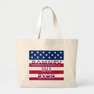 Romney Ryan 2012 Presidential Election Tote Bags