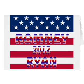 Romney Ryan 2012 Presidential Election Card