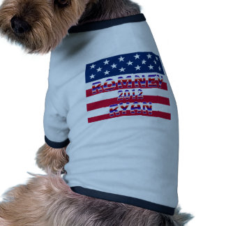 Romney Ryan 2012 Presidential Election Pet Tshirt