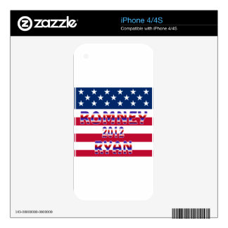 Romney Ryan 2012 Presidential Election iPhone 4S Decals