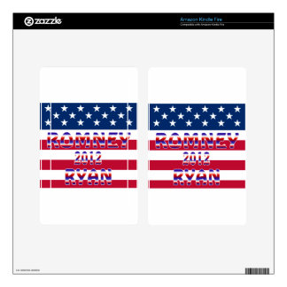 Romney Ryan 2012 Presidential Election Kindle Fire Decals