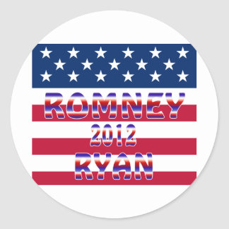 Romney Ryan 2012 Presidential Election Round Stickers