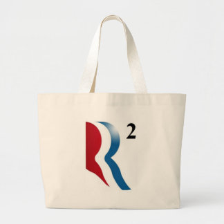 """Romney & Ryan 2012 - """"R squared"""" Canvas Bags"""