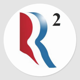 "Romney & Ryan 2012 - ""R squared"" Classic Round Sticker"