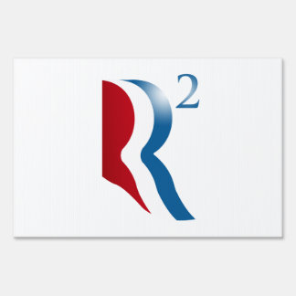 ROMNEY RYAN 2012 - R SQUARED LAWN SIGN