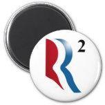 "Romney & Ryan 2012 - ""R squared"" 2 Inch Round Magnet"