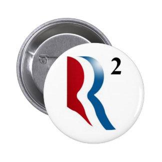 "Romney & Ryan 2012 - ""R squared"" Pinback Button"