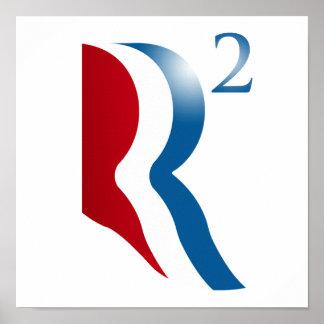 ROMNEY RYAN 2012 - R SQUARED POSTER