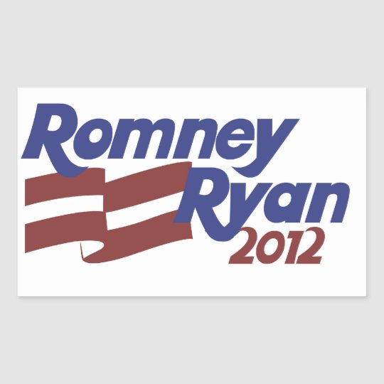 Romney Ryan 2012 Rectangular Sticker