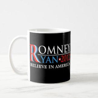 Romney Ryan 2012 Red White Blue Rally Mug