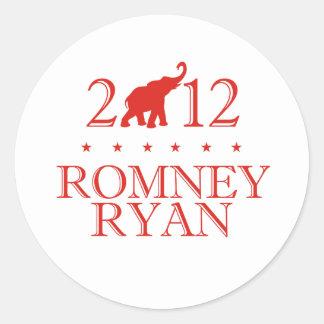 ROMNEY RYAN 2012 REPUBLICAN.png Classic Round Sticker