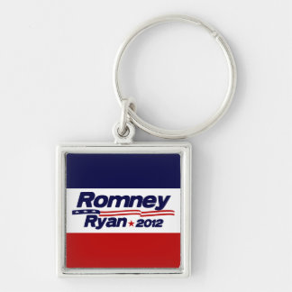 Romney Ryan 2012 Silver-Colored Square Keychain