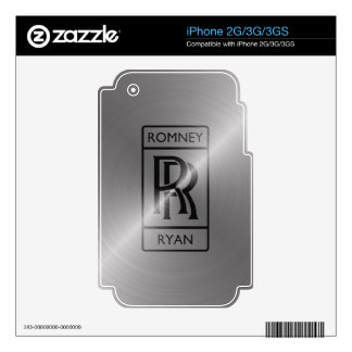 Romney Ryan 2012 Skins For iPhone 3GS