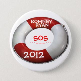 Romney Ryan 2012 SOS Lifesaver Button