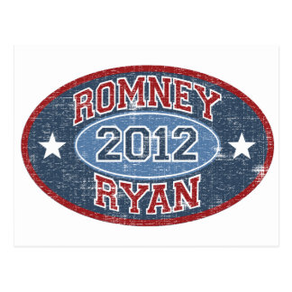 Romney Ryan 2012 sport vintage Postcard