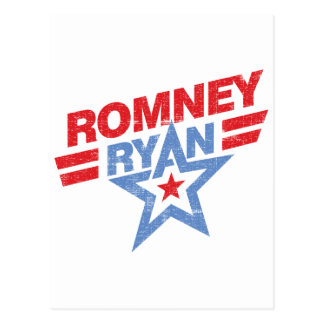 Romney Ryan 2012 star Postcard