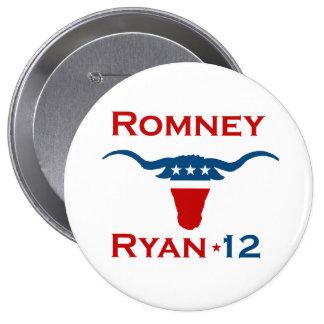 ROMNEY RYAN 2012 STEER.png 4 Inch Round Button