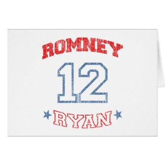 Romney Ryan 2012 Tarjeta