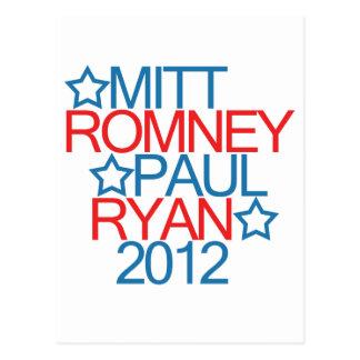 Romney Ryan 2012 Tarjetas Postales