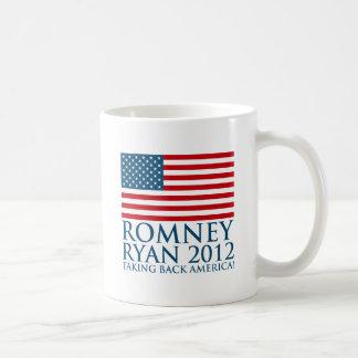 Romney Ryan 2012 Taza Básica Blanca
