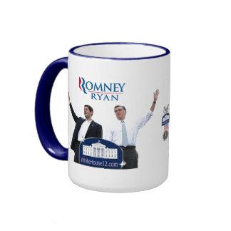 Romney-Ryan 2012 Taza De Dos Colores