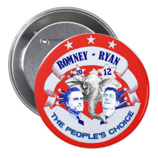 Romney - Ryan 2012 The People's Choice Button
