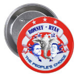 Romney - Ryan 2012 The People's Choice Buttons