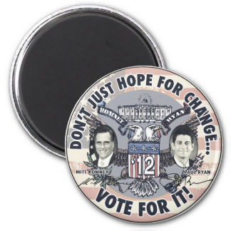 Romney Ryan 2012 Two Headed Eagle Jugate 2 Inch Round Magnet