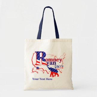 Romney Ryan 2012 - un equipo que gana para la gent Bolsas De Mano