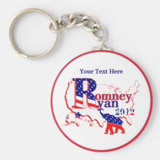 Romney Ryan 2012 - un equipo que gana para la gent Llavero Redondo Tipo Pin
